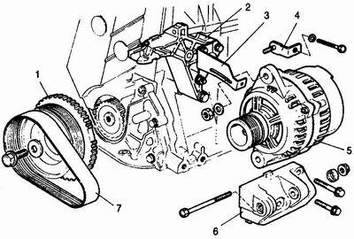 Cхема двигателя ВАЗ-2112 16 клапанов в картинках