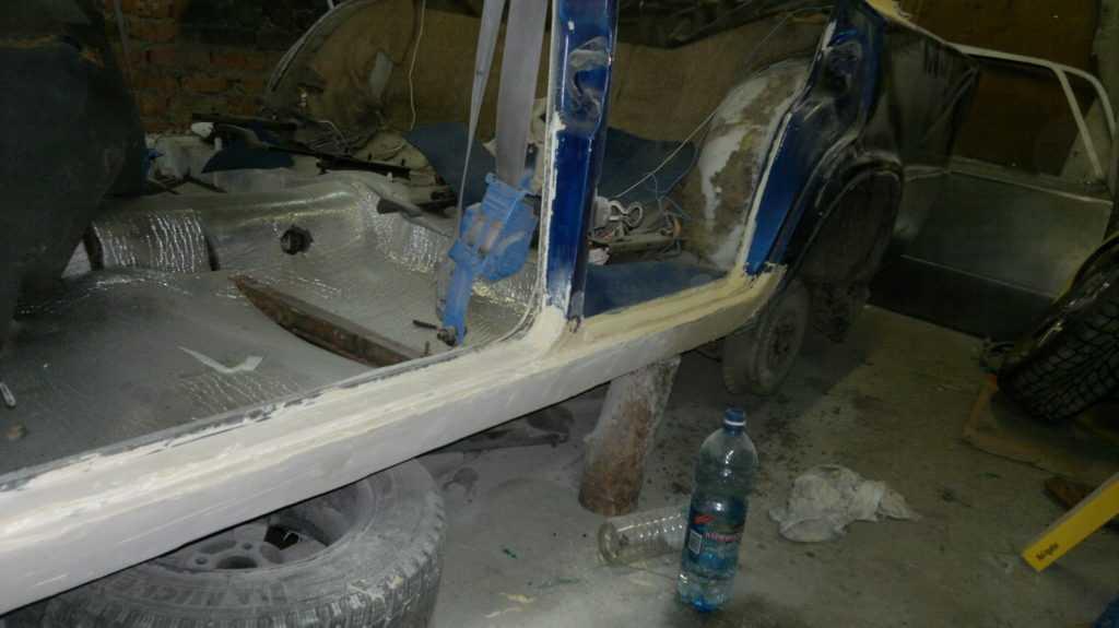 Пороги ваз 2106 - ремонт кузова (рихтовка)
