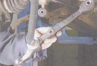 статья про замена рычага передней подвески на автомобиле ваз 2108, ваз 2109, ваз 21099
