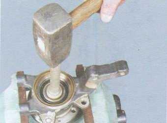 статья про замена подшипника ступицы переднего колеса на автомобиле ваз 2108, ваз 2109, ваз 21099