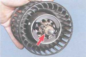 статья про разборка вентилятора отопителя салона и ремонт электродвигателя отопителя на  автомобиле ваз 2108, ваз 2109, ваз 21099