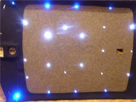 Потолок в светодиодах на Ваз 2110