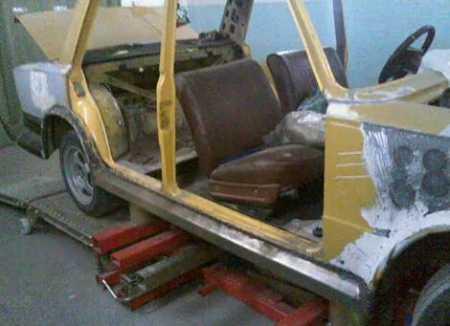 делаем кузовщину на ваз 2101
