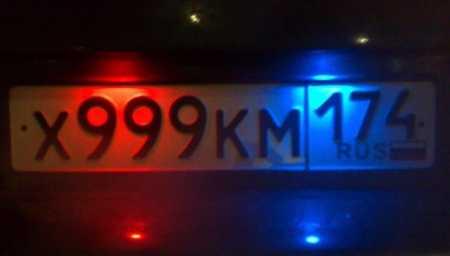 Светодиодная подсветка заднего номера на ВАЗ 2110