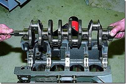 Вынимаем коленчатый вал ВАЗ 21213, 21214 (Нива) из блока цилиндров