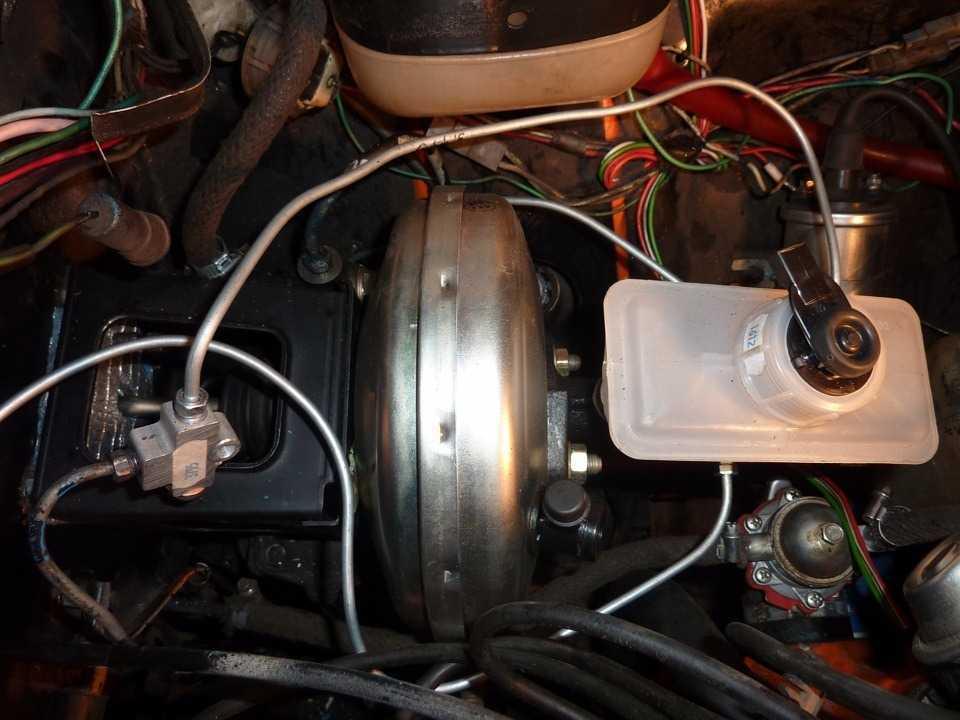 соединение ГТЦ с левым и правым суппортом
