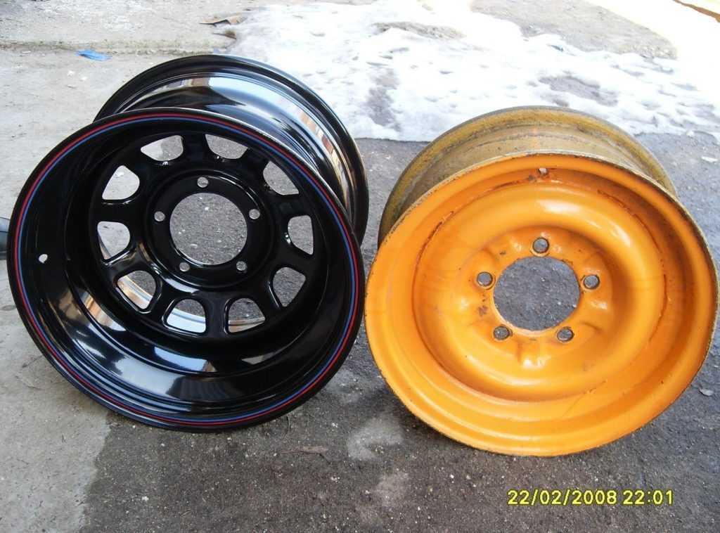 диски R16 ширина J10 на УАЗ 469