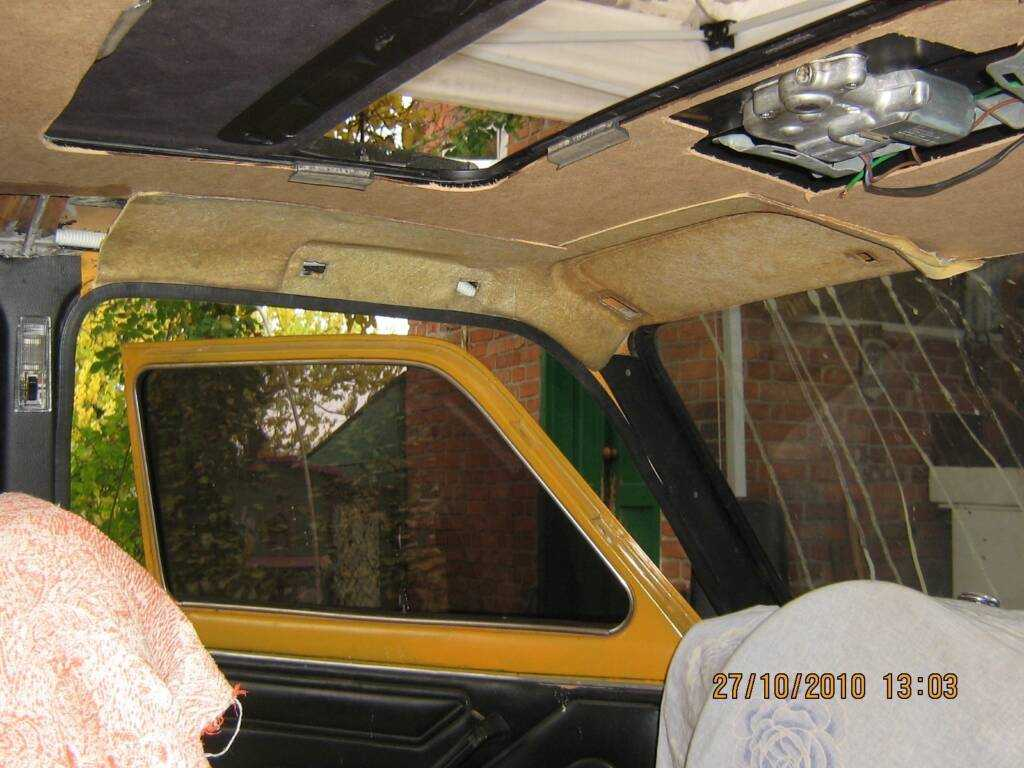 Замена обшивки потолка ВАЗ классики О Ладе 97