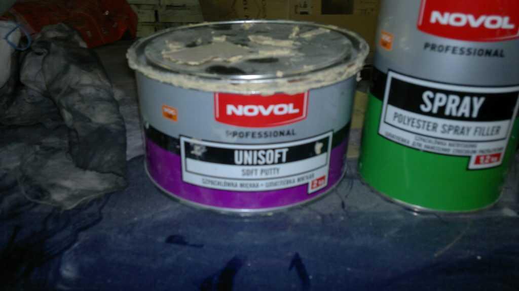Шпатлевка novol (новол) для кузовных работ