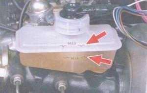 статья про проверка уровня и доливка тормозной жидкости на автомобиле ваз 2108, ваз 2109, ваз 21099