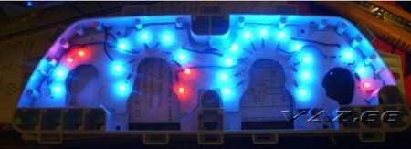 Синяя подсветка комбинации приборов ВАЗ 2110 и ВАЗ 2115