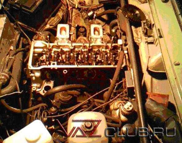 два коллектора от оки на двигатель