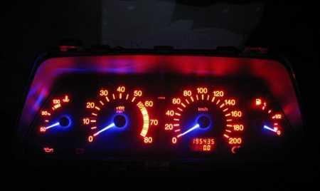 Замена подсветки приборной панели ВАЗ 2110 на многоцветную