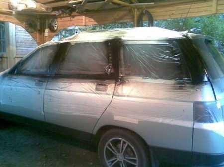 Самостоятельная покраска стоек дверей на автомобиле ВАЗ 2111