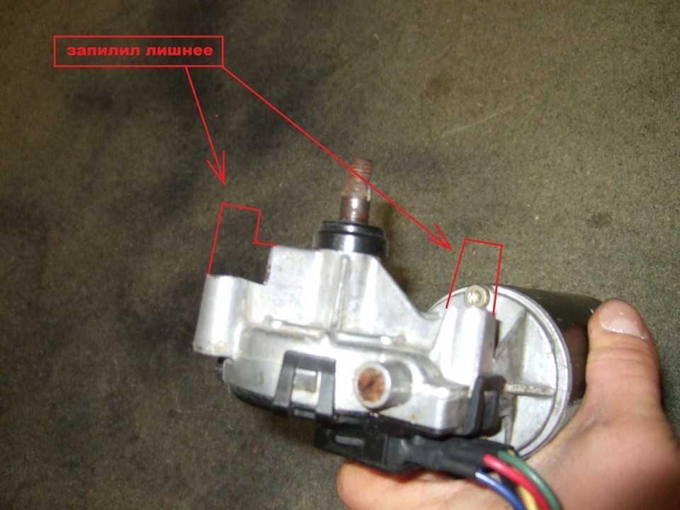 установка мотора стеклоочистителя от FORD на ВОЛГУ ГАЗ 3110